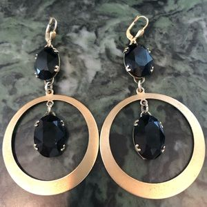 Catherine Popesco Black & Gold Earrings 🖤